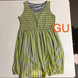 ジーユー(GU)のGU ノースリーブワンピース Sサイズ(ミニワンピース)