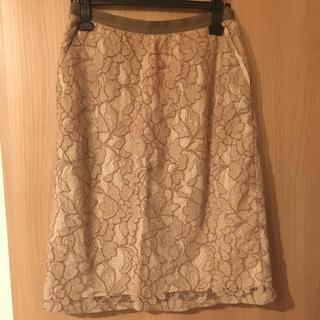 マリリンムーン(MARILYN MOON)のマリリンムーン レースタイトスカート(ひざ丈スカート)