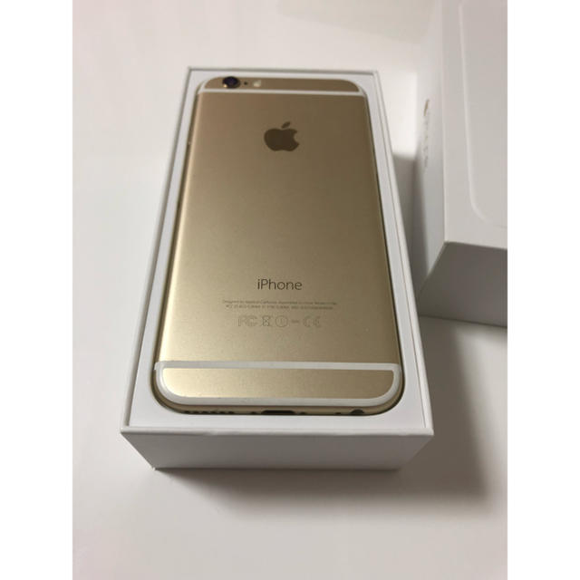 iPhone(アイフォーン)の《お値下げ!!》iPhone6 64GB ゴールド ソフトバンク スマホ/家電/カメラのスマートフォン/携帯電話(スマートフォン本体)の商品写真