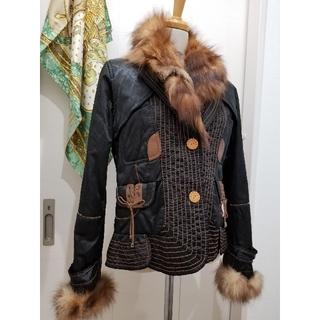 販売終了‼ENRICO DOMANI ediフォックス 毛皮 ブルゾン(毛皮/ファーコート)