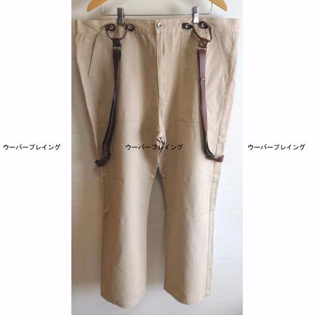 TAKUYA∞ 着用 着 パンツ ベルトストラップ BEIGE ベージュ メンズのパンツ(ワークパンツ/カーゴパンツ)の商品写真