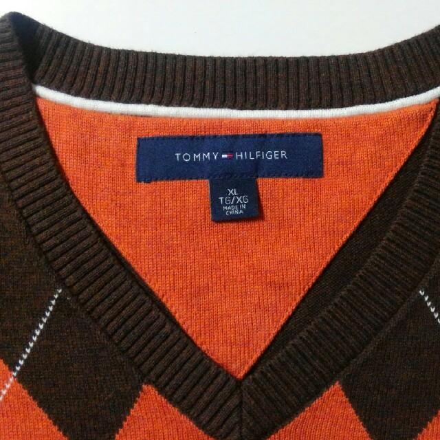 TOMMY HILFIGER(トミーヒルフィガー)の大きいS トミーヒルフィガー*Vネックセーター(XL) メンズのトップス(ニット/セーター)の商品写真