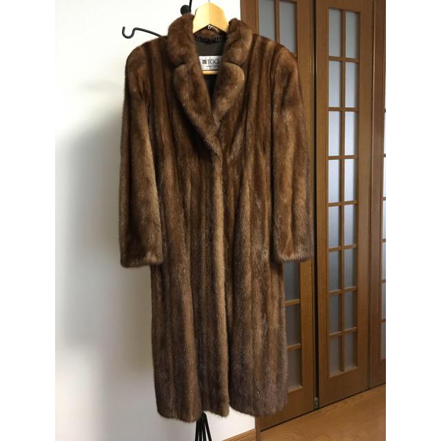 ファー ♡ ミンク 毛皮 ロングコート 13号〜 ◆TOGU TOHOMINK レディースのジャケット/アウター(毛皮/ファーコート)の商品写真