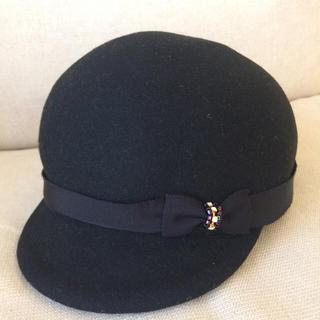 カシラ(CA4LA)のCA4LA レディ帽子 ブラック(ハット)