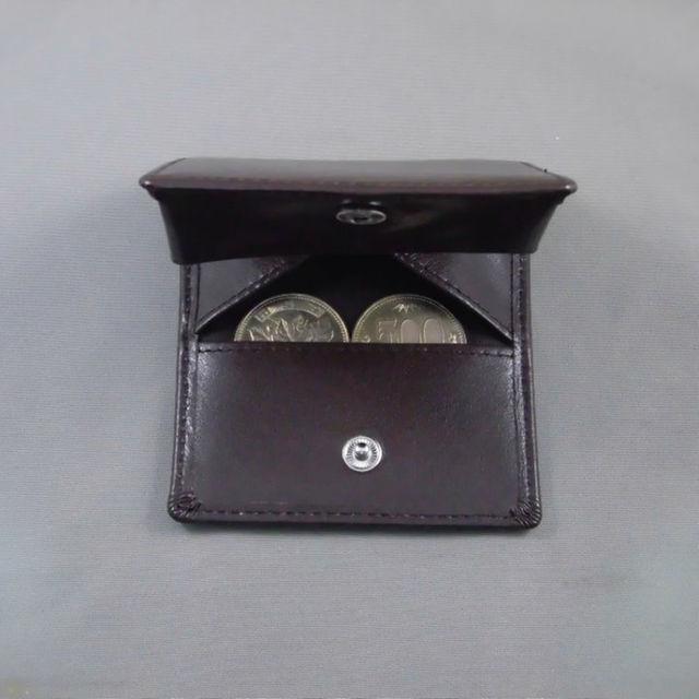 ☆驚きのお値段!牛革製ボックスタイプコインケース★ブラウン メンズのファッション小物(コインケース/小銭入れ)の商品写真
