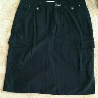 インメルカート(inmercanto)のinmercanto タイトスカート S 黒 ブラック カーゴ 綿100(ひざ丈スカート)