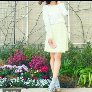 マーキュリーデュオ(MERCURYDUO)のマーキュリーデュオ チェックツイードラップスカート(ミニスカート)