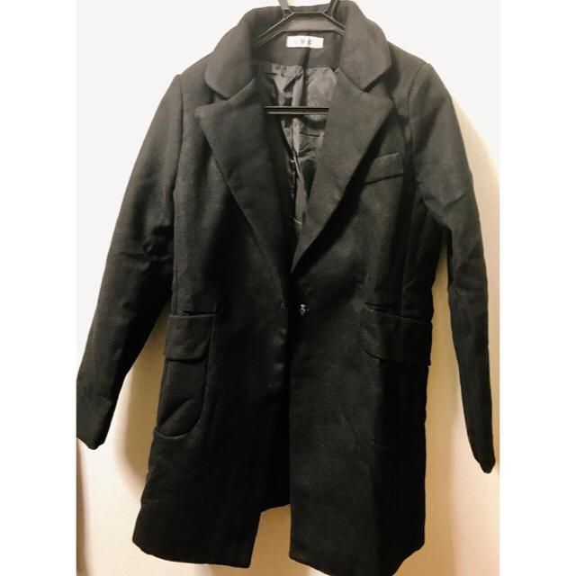 レディース コート 黒 アウター 冬服  レディースのジャケット/アウター(ロングコート)の商品写真