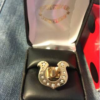 テンダーロイン(TENDERLOIN)の8K テンダーロイン ホースシュー リング ダイヤ 金 指輪 三代目(リング(指輪))