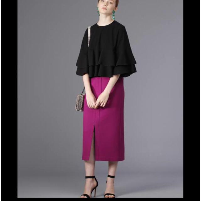 tiara(ティアラ)のゆっこ様専用 Tiara フロントスリットタイトスカート  パープル レディースのスカート(ひざ丈スカート)の商品写真
