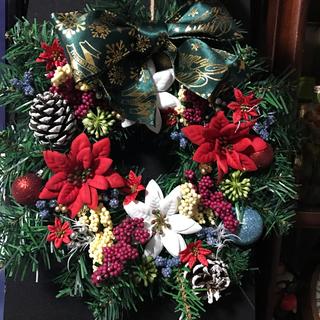 ポインセチア ポインセチア アーティスティックフラワー クラシック クリスマス(リース)