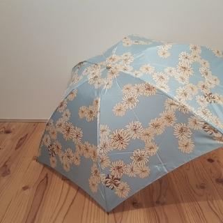 ポール&ジョーシスター(PAUL & JOE SISTER)の☆新品未使用☆ ポール&ジョーシスター ブルー 折り畳み雨傘(傘)
