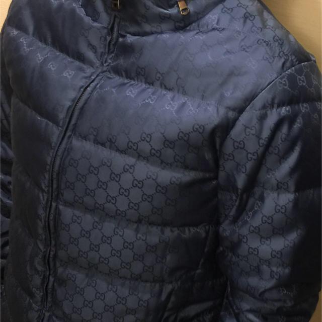 new style 72f52 0642f 【最終値下げ】 GUCCI ダウンジャケット:ブルー:ハンガー付き | フリマアプリ ラクマ