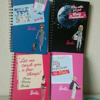 バービー(Barbie)のBarbieリングノートB6☆80シート 4冊セット(その他)