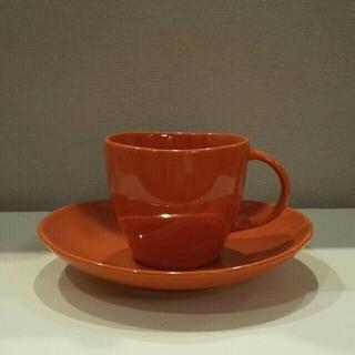 ムジルシリョウヒン(MUJI (無印良品))の無印良品 カップ&ソーサー[オレンジ](食器)