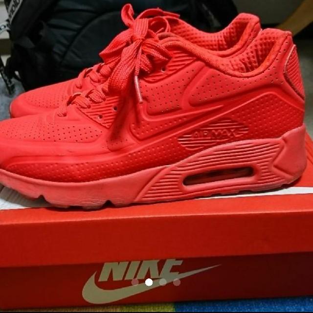 NIKE(ナイキ)のナイキ エアマックス90 ウルトラモアレ 赤 メンズの靴/