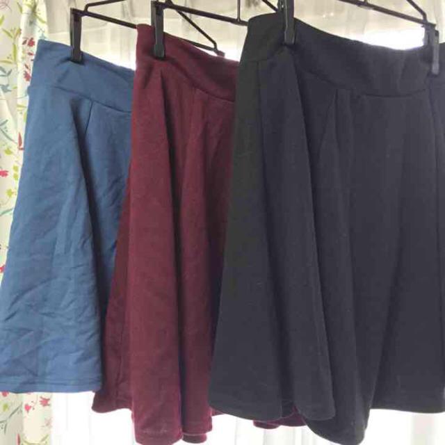 HONEYS(ハニーズ)の青 ボルドー 黒 スカート  レディースのスカート(ひざ丈スカート)の商品写真