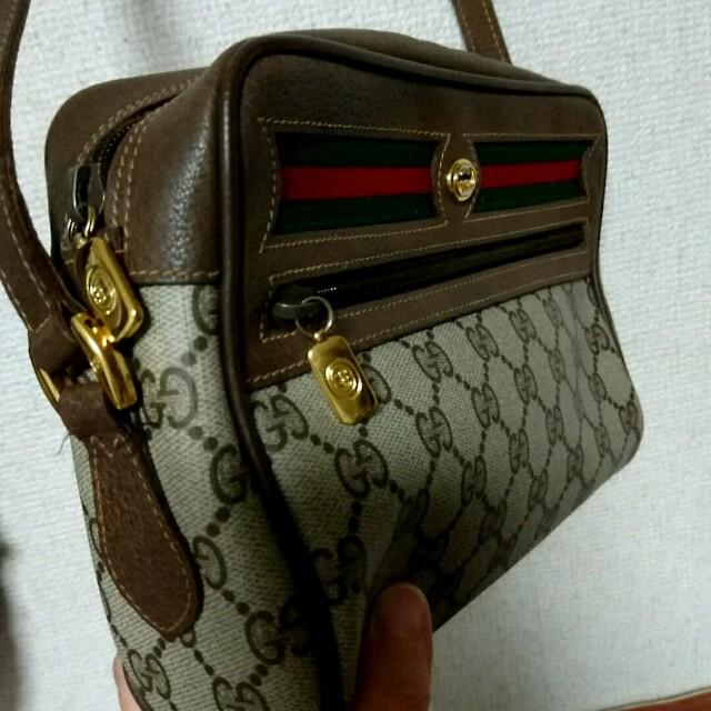 Gucci(グッチ)のおーちゃん様専用美品  オールドグッチ ブラウン ショルダー ヴィンテージ レア レディースのバッグ(ショルダーバッグ)の商品写真