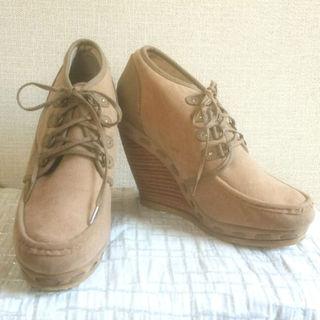 ランダ(RANDA)の24cm RANDA ウェッジソール 編み上げローファー(ローファー/革靴)
