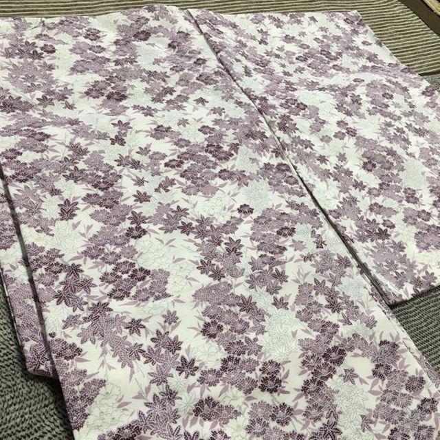 紫 ピンク 小紋 未使用 レディースの水着/浴衣(振袖)の商品写真