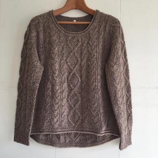 ムジルシリョウヒン(MUJI (無印良品))の値下げ  未使用 無印良品 ケーブル ウールセーター(ニット/セーター)