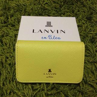 ランバンオンブルー(LANVIN en Bleu)のLANVIN名刺入れ イエロー(名刺入れ/定期入れ)