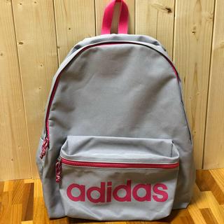 アディダス(adidas)のadidas リュック グレー ピンク(リュック/バックパック)