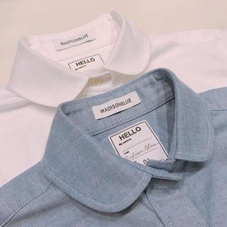 マディソンブルー(MADISONBLUE)のマディソンブルー MADISONBLUE 定番 丸襟 オックスフォード シャツ(シャツ/ブラウス(長袖/七分))