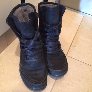 リーボック(Reebok)のリーボック イージートーン 完売モデル ブラック ショートブーツ 23㎝(ブーツ)