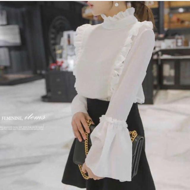 17kg❤ 韓国ファッション ブラウスホワイト