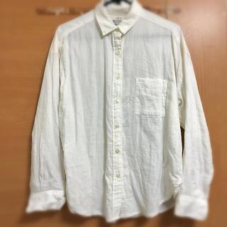 無印良品 ボタンダウンシャツ 白シャツ オーガニックコットン
