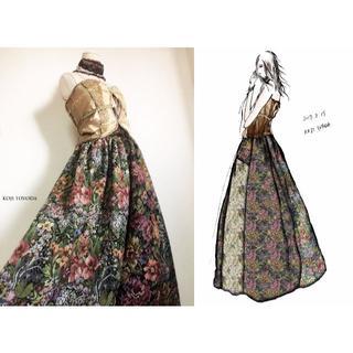 【1点もの・デザイン画付き】ゴブラン織りドレス(ロングドレス)