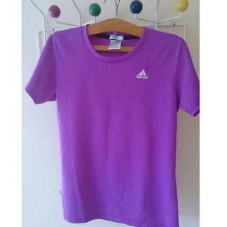 アディダス(adidas)のアディダス レディース 半袖Tシャツ 紫色 パープル L(その他)