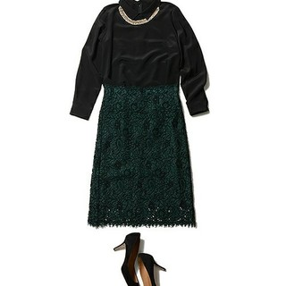 デミルクスビームス(Demi-Luxe BEAMS)の定価56000円 エッフェビームス レーススカート(ひざ丈スカート)