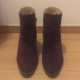 クミキョク(kumikyoku(組曲))の組曲 パープル ショートブーツ Sサイズ(ブーツ)