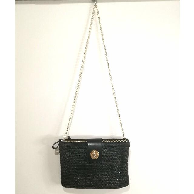 BEAMS(ビームス)の【BEAMS】チェーンバッグ ブラック レディースのバッグ(ショルダーバッグ)の商品写真