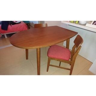 フランフラン(Francfranc)のちゃこ様専用!Franfran テーブル、チェア2脚セット(ダイニングテーブル)