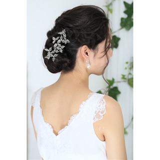 【新品、日本製】ビーズ&パールのヘアアクセ 10本セット 高品質(ウェディングドレス)