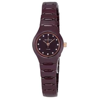 スカーゲン(SKAGEN)のスカーゲン/SKAGEN◆セラミック◆スワロフスキー/最安値◆腕時計 希少(腕時計)