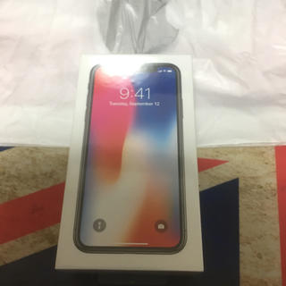 アイフォーン(iPhone)のiPhone X SIMフリー 64GB スペースグレイ 未開封(スマートフォン本体)
