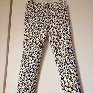 ティエリーミュグレー(Thierry Mugler)のミュグレー 裾ジップラバー加工レオパード柄スキニーパンツ サイズ36 超美品!(その他)