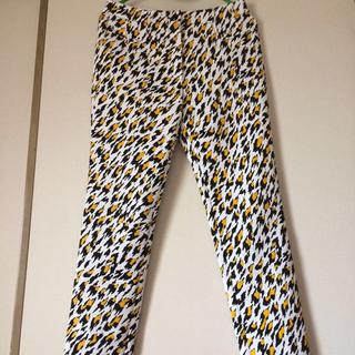 ティエリーミュグレー(Thierry Mugler)のミュグレー 裾ジップラバー加工豹柄スキニーパンツ サイズ36 美品!(その他)