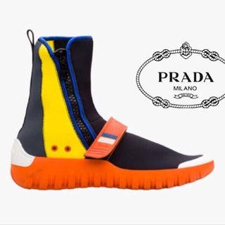 プラダ(PRADA)の【SALE】PRADA ネオプレンハイカットスニーカー プラダ Supreme系(スニーカー)