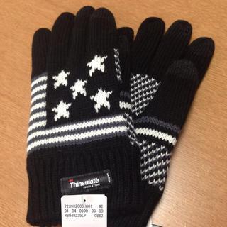 レイジブルー(RAGEBLUE)の新品未使用☆スマホ対応手袋 USA柄ブラック(手袋)