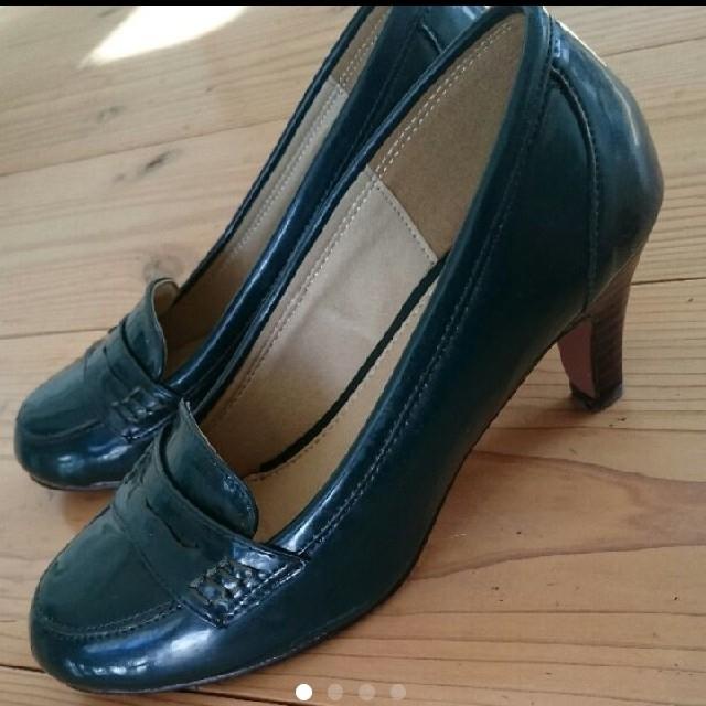 HARUTA(ハルタ)のHARUTA ローファー パンプス ダークグリーン22.5 レディースの靴/シューズ(ハイヒール/パンプス)の商品写真