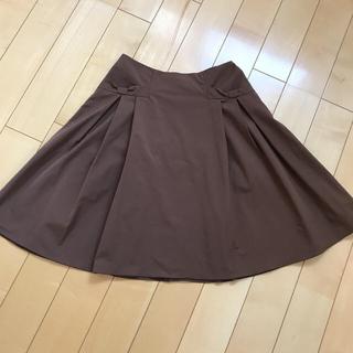 フォクシー(FOXEY)の*売約済み*    リボンfoxy  newyork ブラウンスカート(ひざ丈スカート)