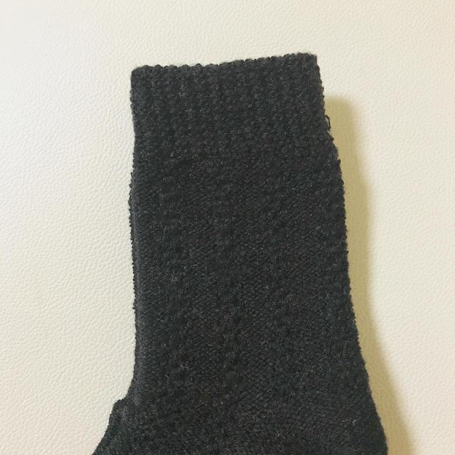シンプル 黒 ブラック あったか 靴下 ソックス 男女兼用 メンズのレッグウェア(ソックス)の商品写真
