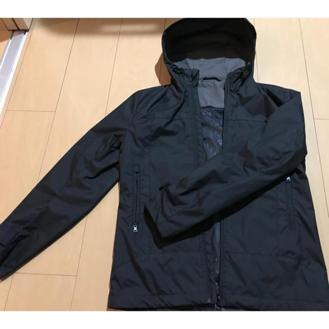 GU(ジーユー)のアウター gu メンズ ブラック ランニング マウンテン パーカー メンズのジャケット/アウター(マウンテンパーカー)の商品写真