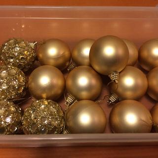 60mm クリスマス  ボールオーナメント 16個 ゴールド(その他)