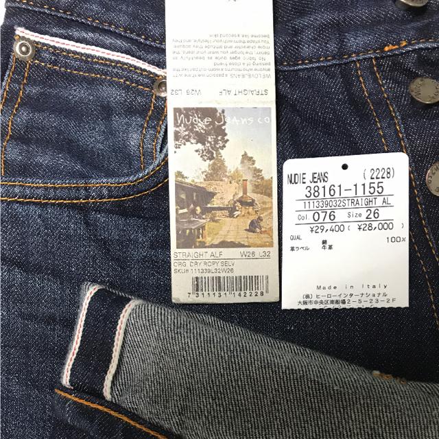 Nudie Jeans(ヌーディジーンズ)の送料無料【ヌーディージーンズ】廃番モデル ストレート アルフ 赤耳 中古 メンズのパンツ(デニム/ジーンズ)の商品写真